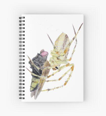 Spider caught a fly Spiral Notebook