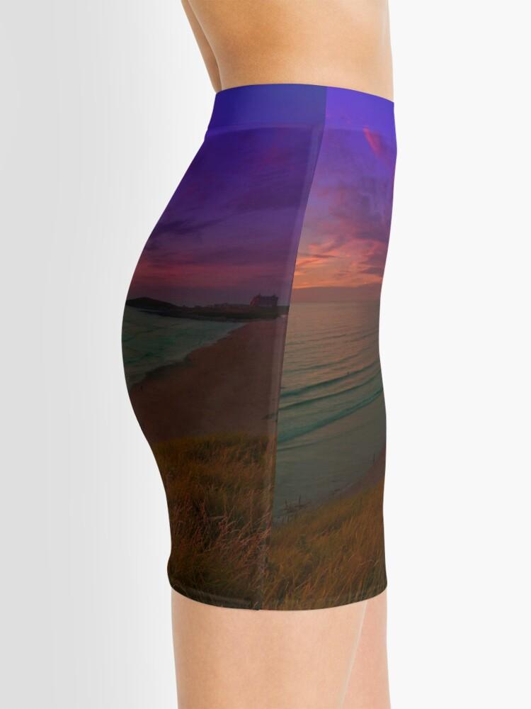 Alternative Ansicht von Newquay, Fistral Beach, Strand Sonnenuntergang Minirock