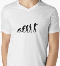 Photographer evolution Men's V-Neck T-Shirt