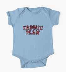 IRONIC MAN (Vintage/Red) One Piece - Short Sleeve