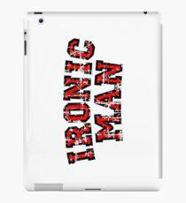 IRONIC MAN (Vintage/Red) iPad Case/Skin