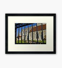 Saxony church Framed Print