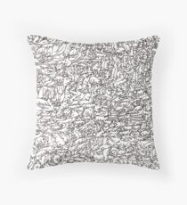 Wall of Animals Throw Pillow