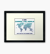 I Can Change The World - Funny Programming Jokes - Light Color Framed Print