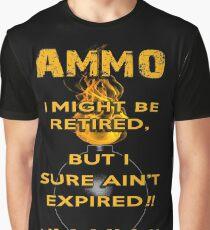 AMMO Retired Not Expired IYAAYAS Graphic T-Shirt