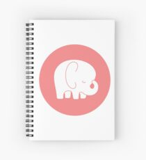 mod baby elephant Spiral Notebook