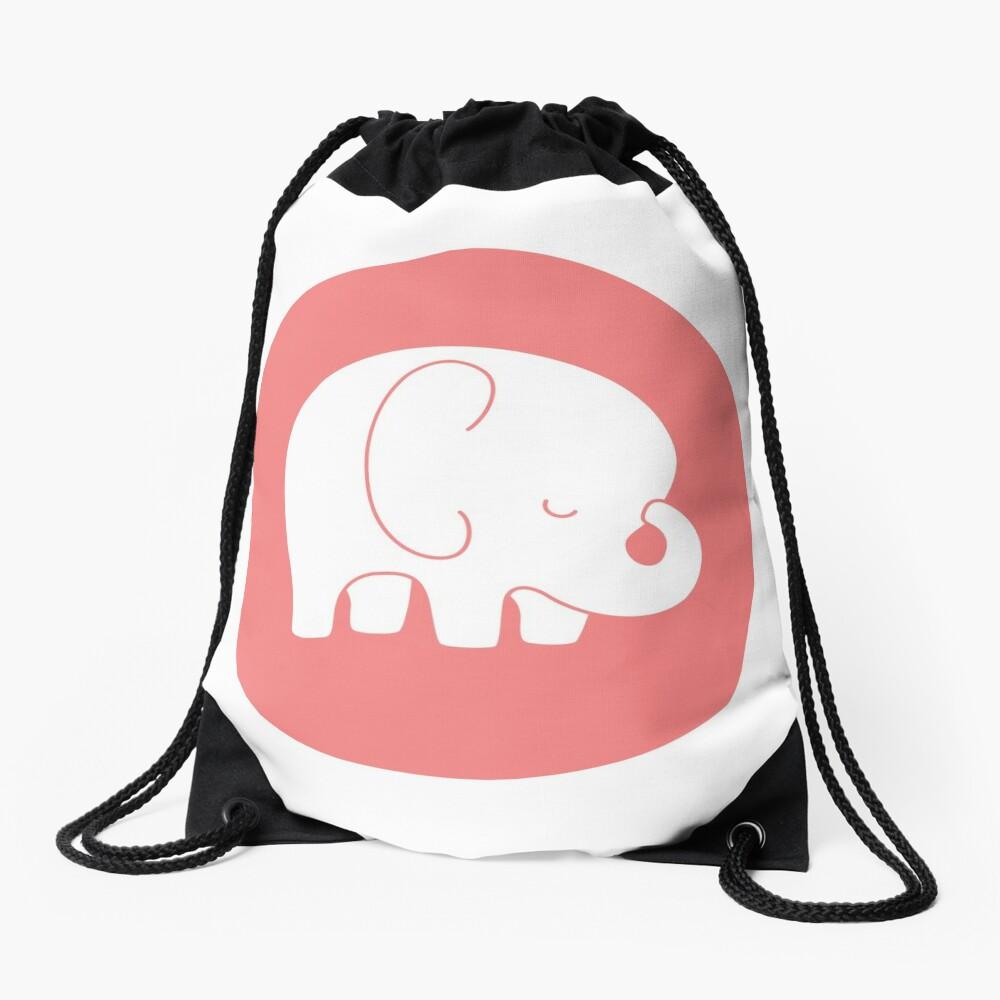mod baby elephant Drawstring Bag