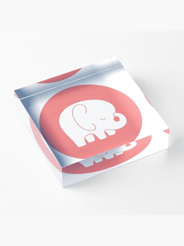 Alternate view of mod baby elephant Acrylic Block