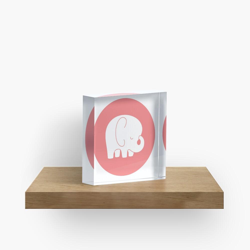 mod baby elephant Acrylic Block