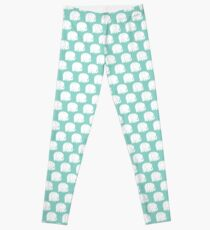 mod baby elephants mint Leggings