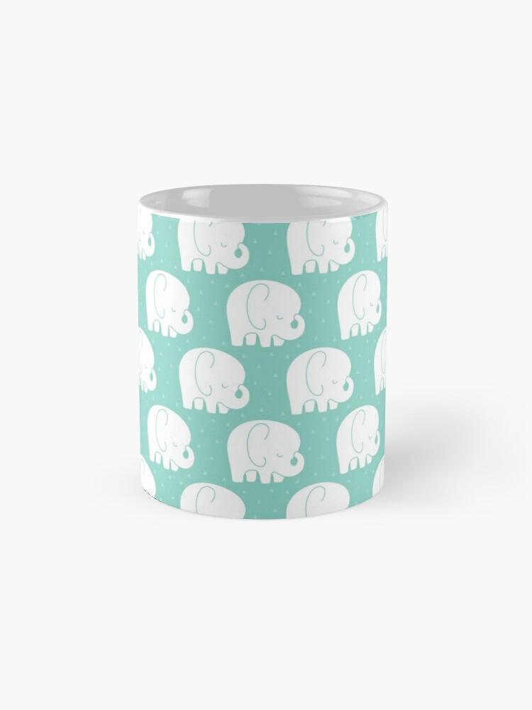 Alternate view of mod baby elephants mint Mug
