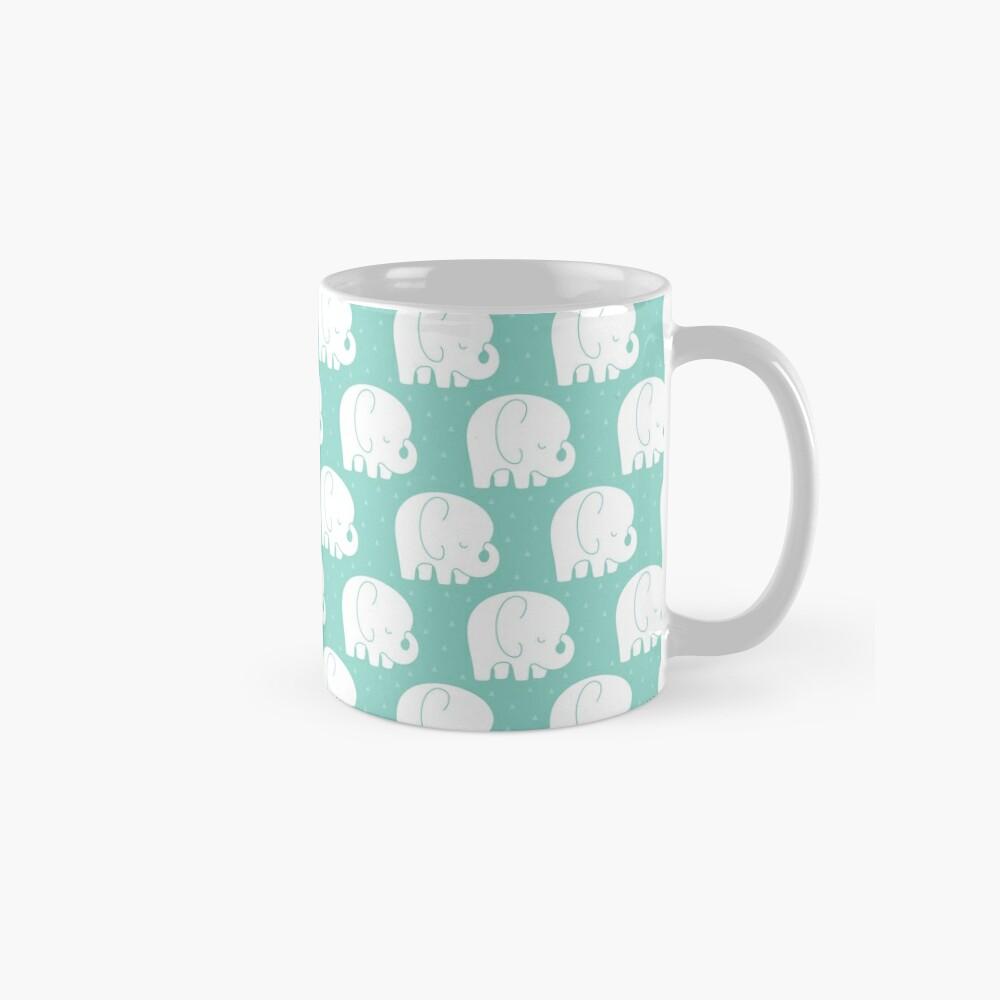 mod baby elephants mint Mug