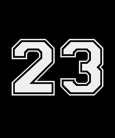 Number 23 Sports Players Clipart