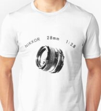 Nikkor 28mm Black Unisex T-Shirt