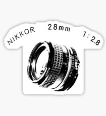 Nikkor 28mm Black Sticker