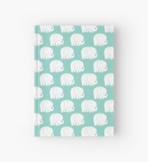 mod baby elephants mint Hardcover Journal