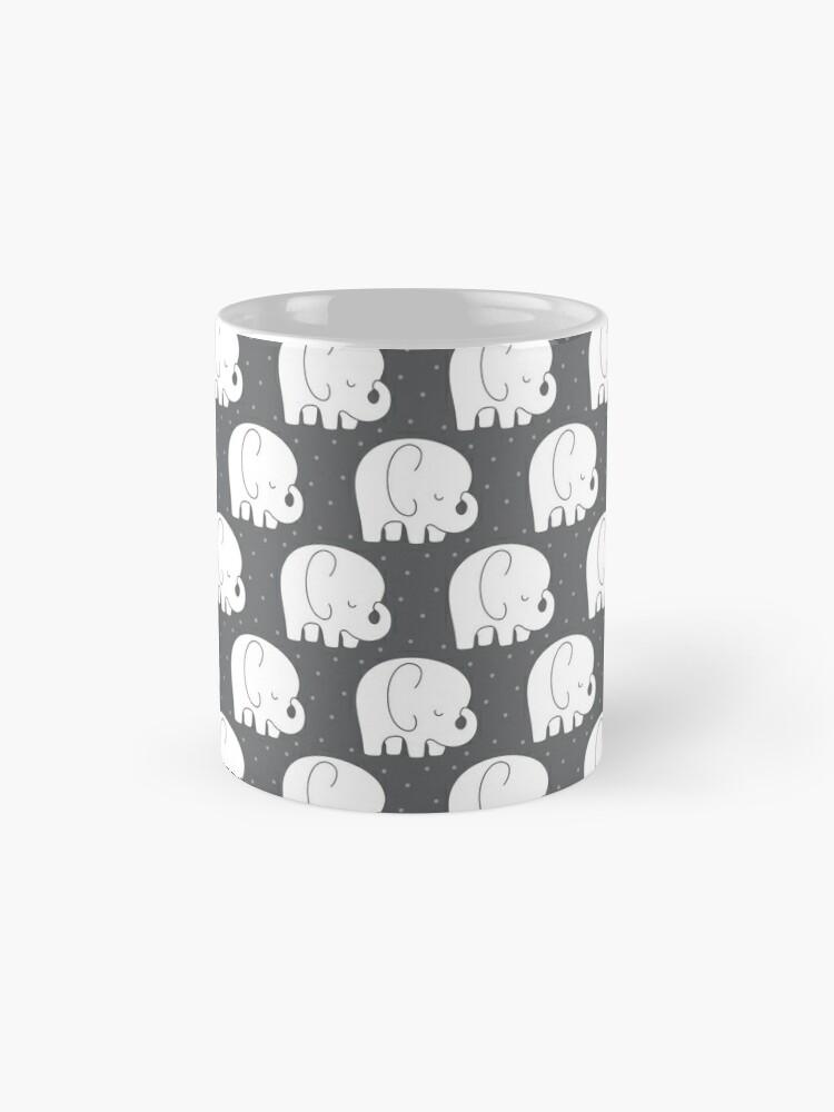 Alternate view of mod baby elephants grey Mug