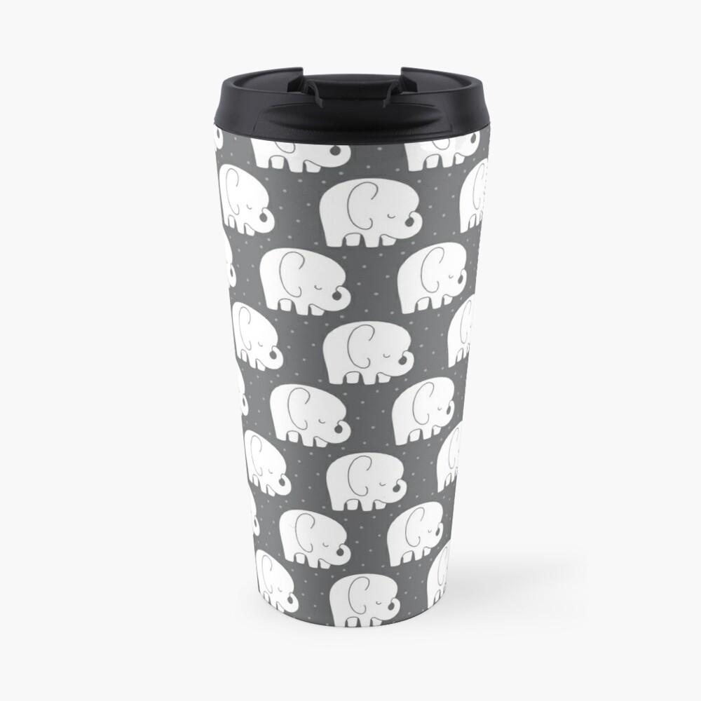 mod baby elephants grey Travel Mug