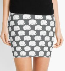 mod baby elephants grey Mini Skirt
