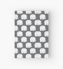 mod baby elephants grey Hardcover Journal