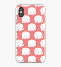 mod baby elephants coral iPhone Case