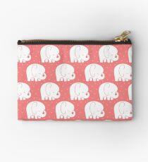 mod baby elephants coral Studio Pouch