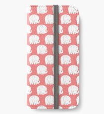 mod baby elephants coral iPhone Wallet/Case/Skin