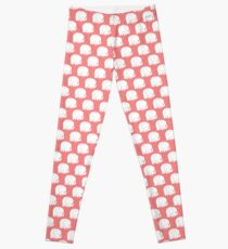 mod baby elephants coral Leggings