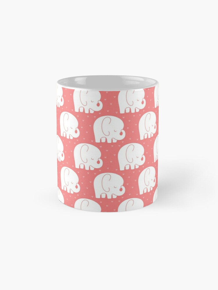 Alternate view of mod baby elephants coral Mug