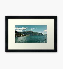 Fjord living Framed Print