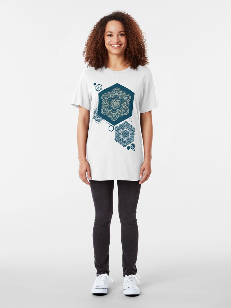 Alternate view of Floral Lace III Slim Fit T-Shirt