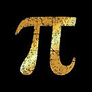 Letter Number Pi (Patina Gold) by theshirtshops