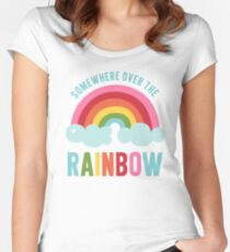Somewhere Over the Rainbow Fitted Scoop T-Shirt