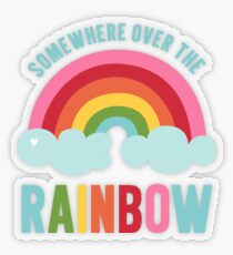 Somewhere Over the Rainbow Transparent Sticker