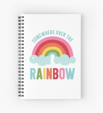 Somewhere Over the Rainbow Spiral Notebook