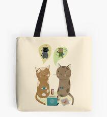 Geek Cats  Tote Bag