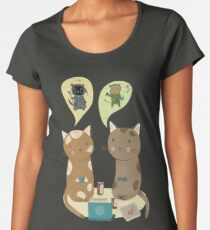 Geek Cats  Women's Premium T-Shirt