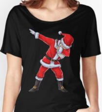Santa Claus Dabbing T Shirt Christmas Funny Dab Dance Gifts Women's Relaxed Fit T-Shirt