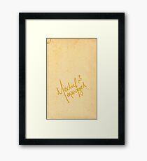 Mischief Managed No.3 Framed Print