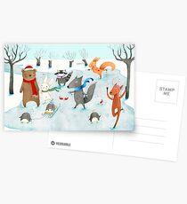 Eislaufen Postkarten