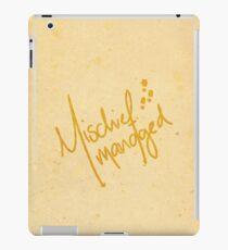 Mischief Managed No.3 iPad Case/Skin