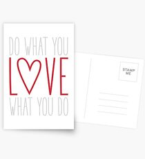 Do What You Love Postcards