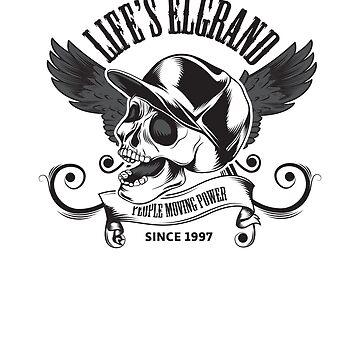 Life's Elgrand Skull JDM Sticker by MarkPMB