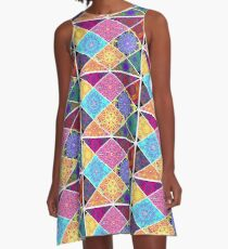 Boho Chic A-Linien Kleid