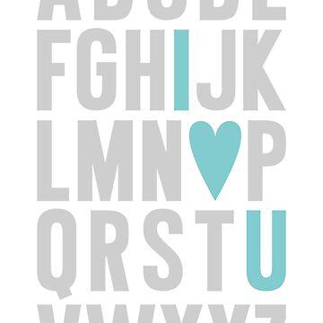 ABC I Love You Blue by MissTiina
