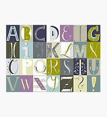 Alphabet blue/green Photographic Print
