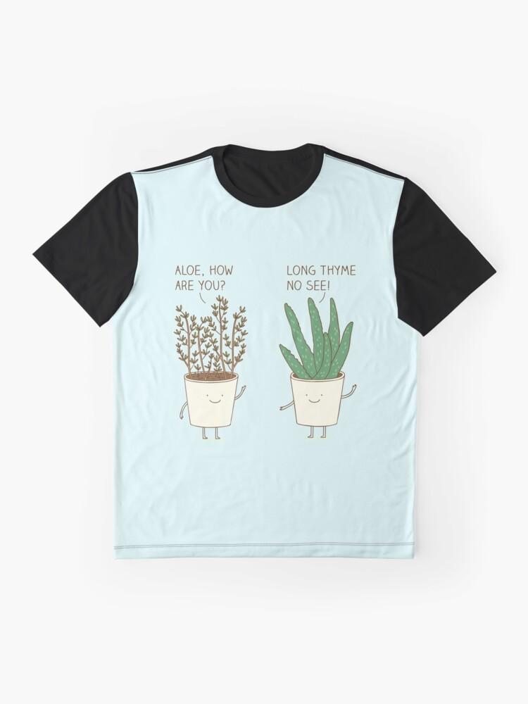 Vista alternativa de Camiseta gráfica etiqueta de jardín