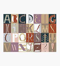 Alphabet red/violet Photographic Print