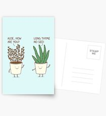 garden etiquette Postcards
