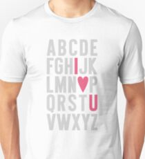 ABC I Love You Pink Unisex T-Shirt